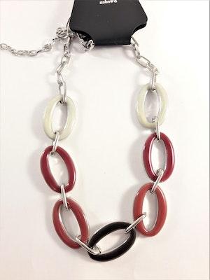 Halsband med länkar i rött