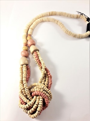 Flerradigt Halsband Trä