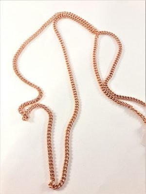 Halsband i kopparfärg ca 80 cm