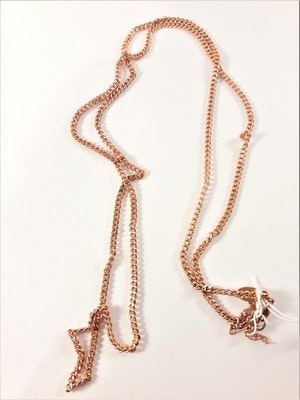 Halsband Kopparfärg ca 80 cm