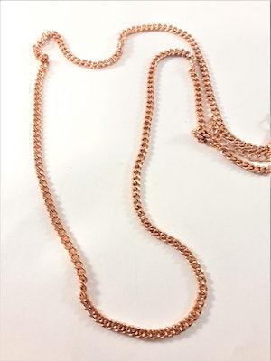 Halsband i kopparfärg ca 55 cm