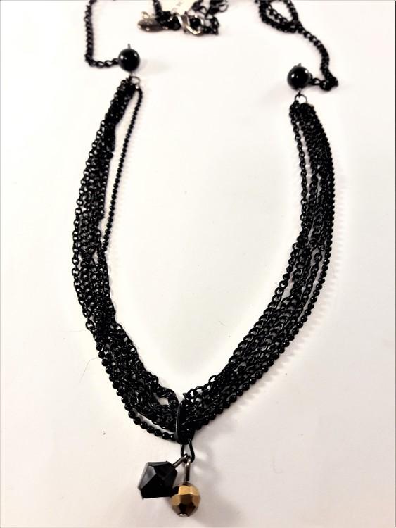 Halsband med detaljer i svart