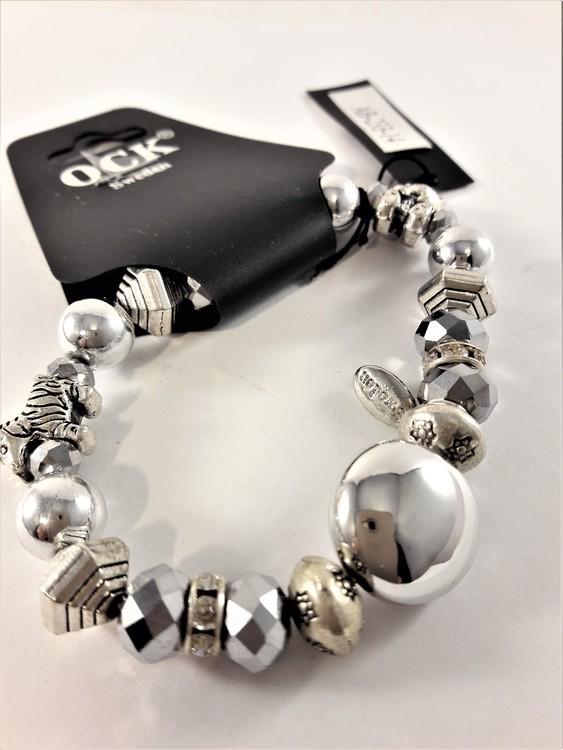Armband med Söta Berlocker Silverfärg