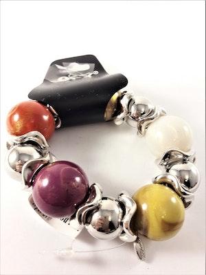 Armband Silver- och Multifärg