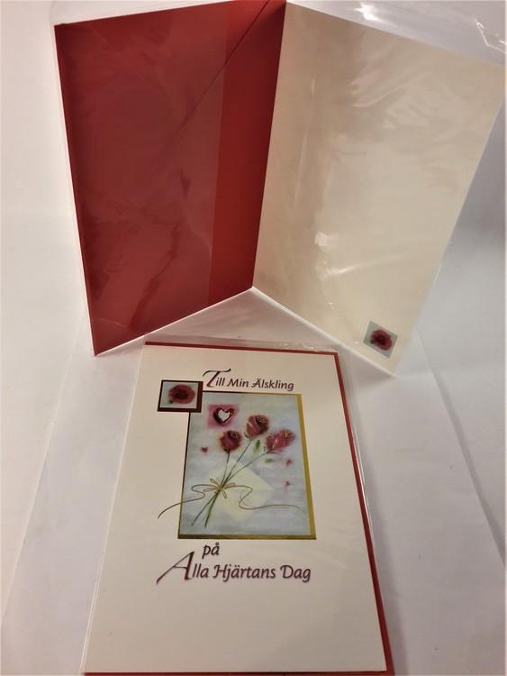 Alla Hjärtans Dag-kort med kuvert