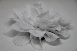 Hårsnodd, vit färg, med klämma