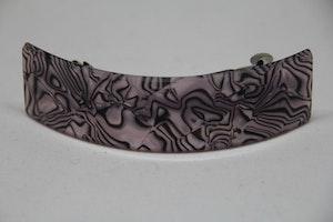 Hårklämma, lila med svart mönster