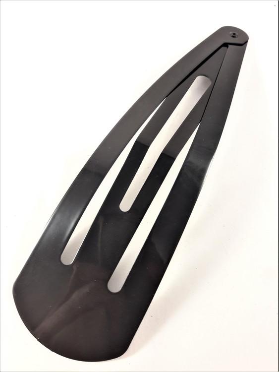 Stort, svart Click-clack hårspänne