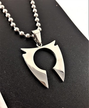 Stål Halsband med Hänge Silverfärg