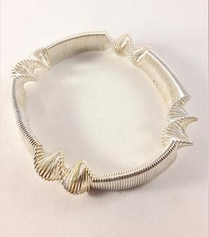 Metall Armband Vitguldsfärg