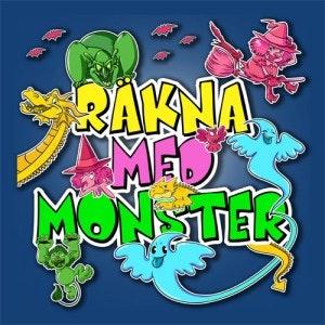 """Presentinslaget spel """"Räkna med monster"""", för 3-5 år"""