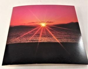 Fyrkantigt grattiskort med solnedgångsmotiv, utan text