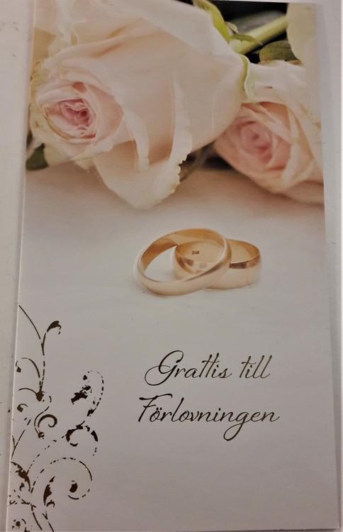 grattis förlovning Kort,