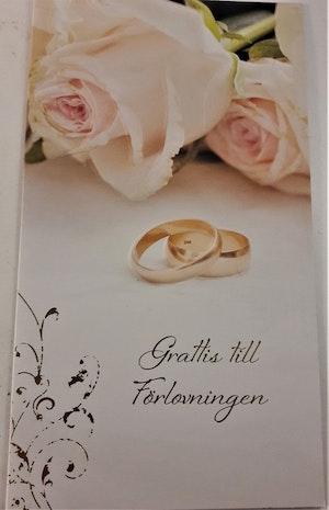 """Kort, """"Grattis till förlovningen"""""""