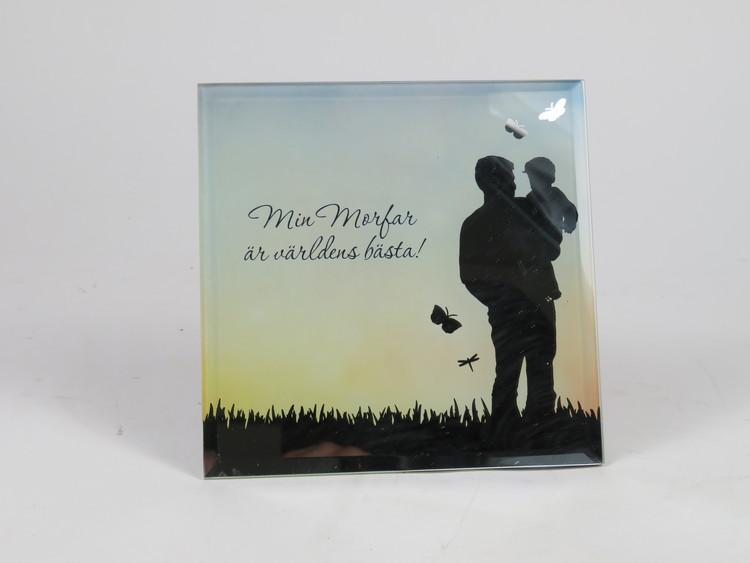 Spegeltavla, Silver Silhouette - Min Morfar är världens bästa!