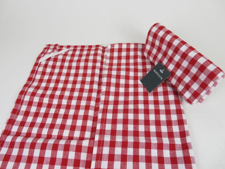 Snygga kökshanddukar i rött och vitt och med klassiskt mönster, 2-pack