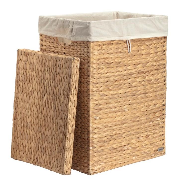 Tvättkorg Vattenhyacint rektangulär. Finns i två storlekar.