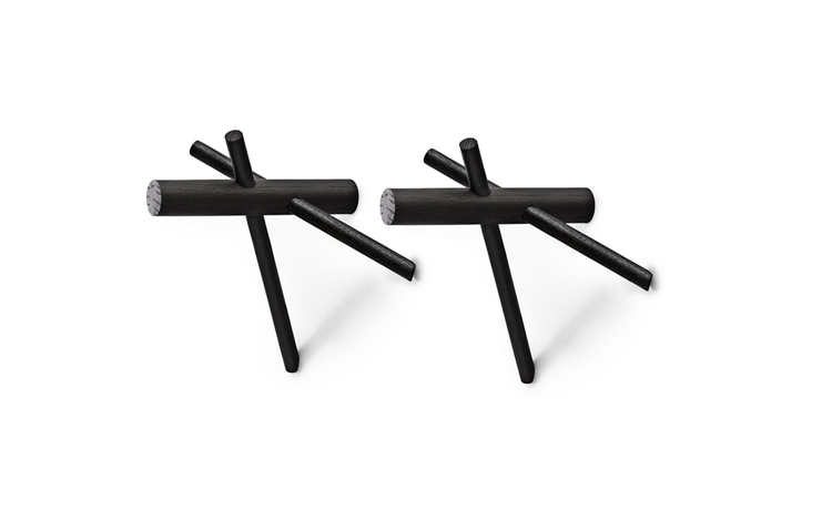 Sticks Hooks 2-pack. Svart. Normann Copenhagen