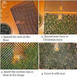 Nätkit till mossvägg