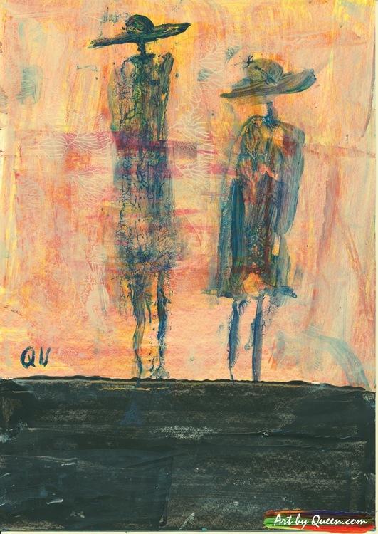 Två vandrande människor