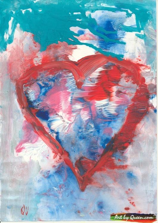 Rött vitt hjärta
