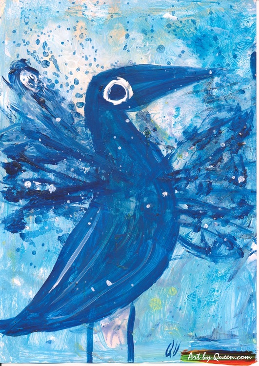 Flaxande blå skarv
