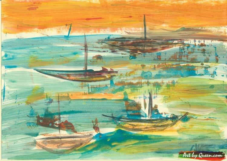 Fyra fiskebåtar