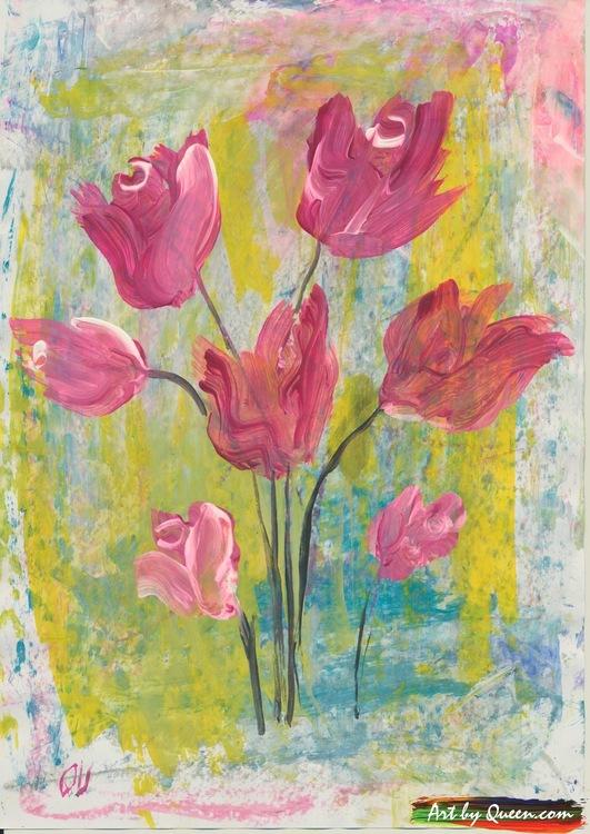 Tulpaner i sin blom