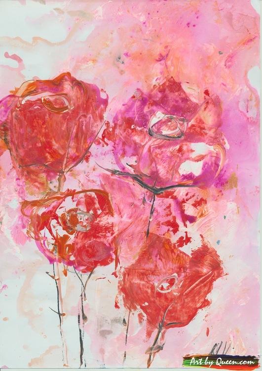 Röda rosor doftar