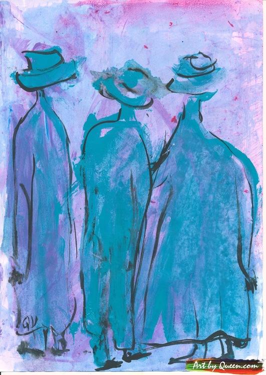 Vi tre vandrar