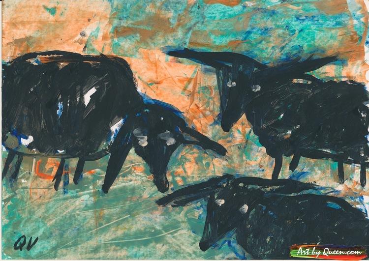 Tre svarta får