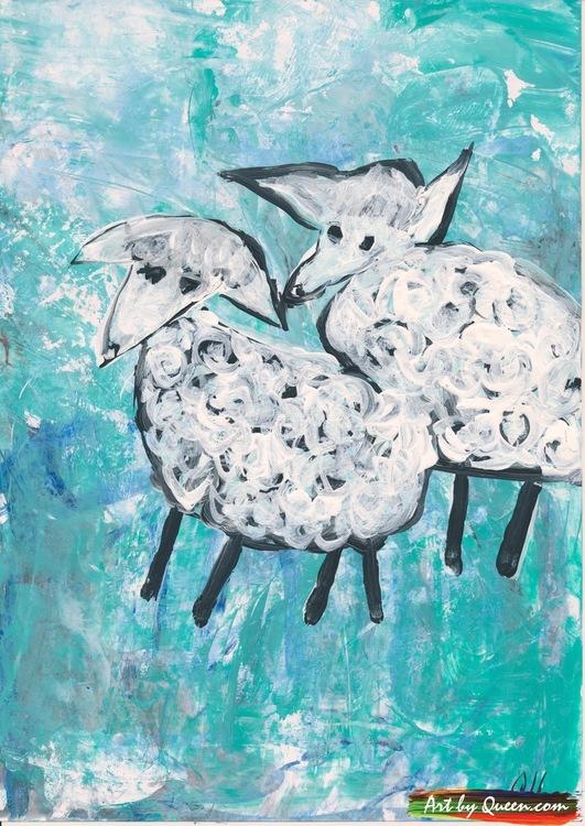 Två får