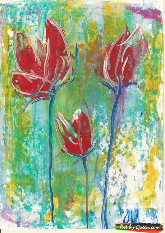 Tre vilda rosor