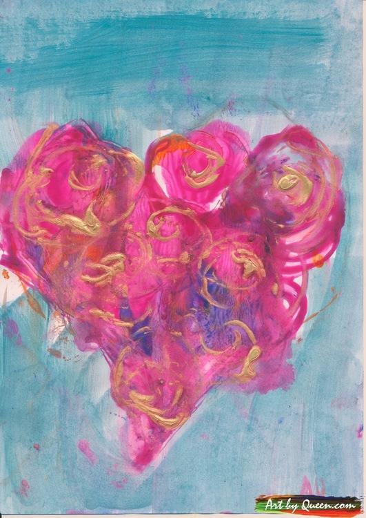 Hjärta med 8 rosor