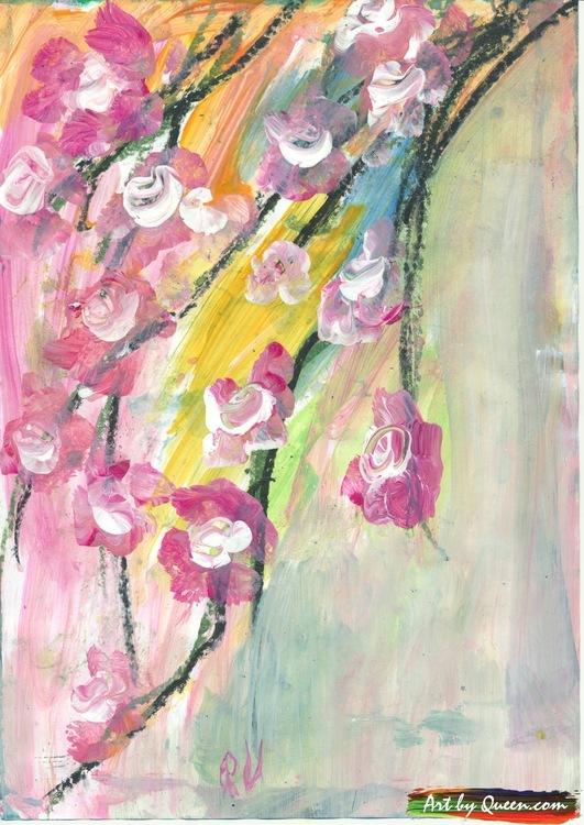 Äppelträd i sin vårblom