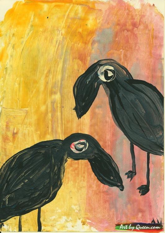 Två svarta papegojor