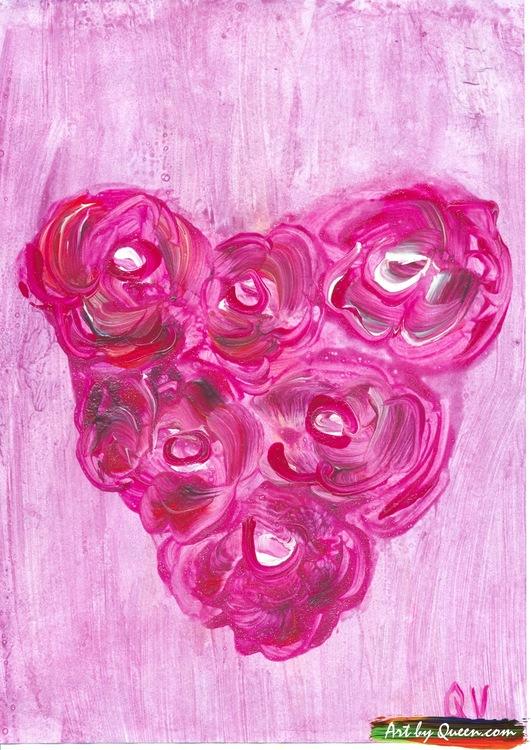 Rosor i blomhjärta