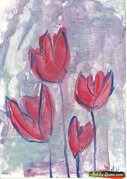 Fyra tulpaner doftar