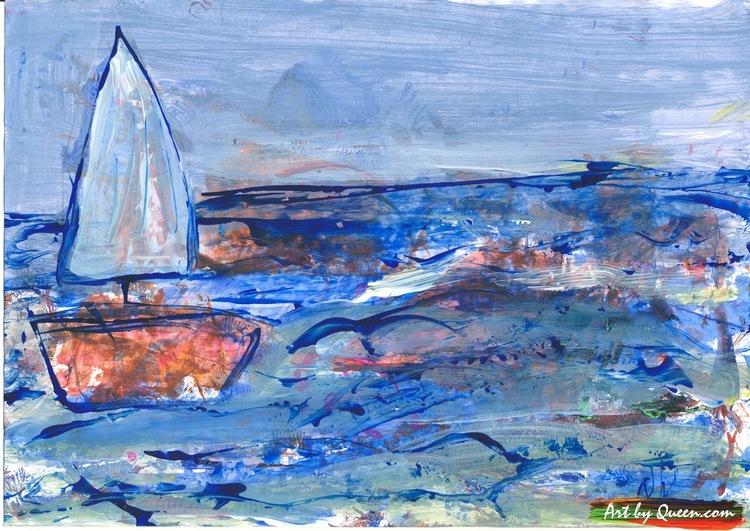 Segelbåten på kusten