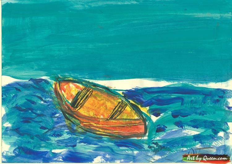 Ensam eka på havet