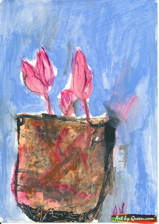 Clematis ska blomma