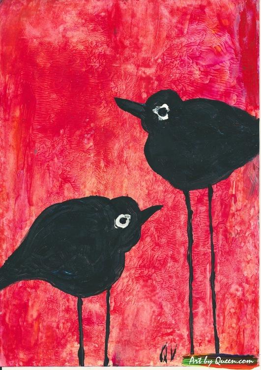 Svarta fågelmamman