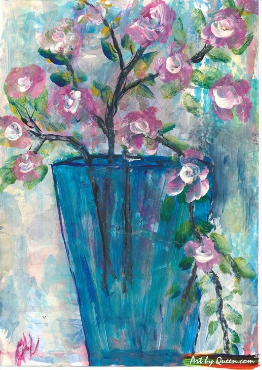 Blommande träkvistar