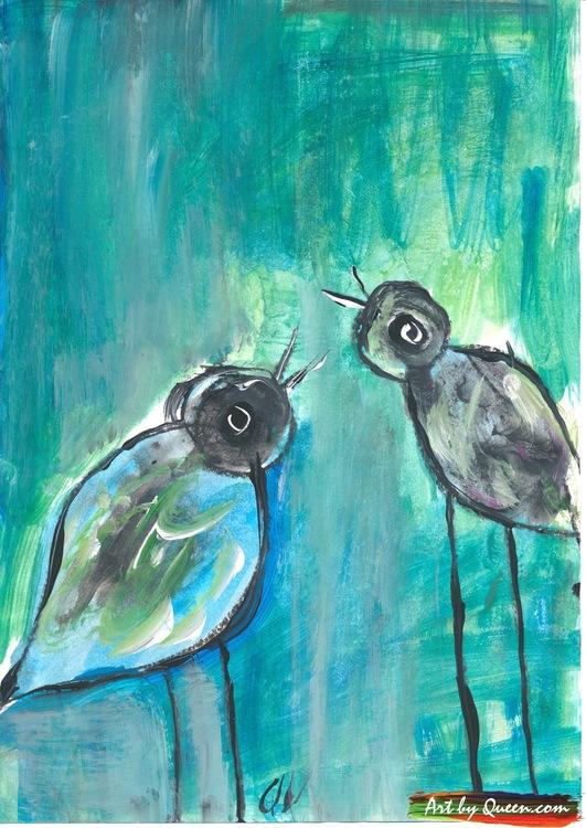 Två fågelsötisar