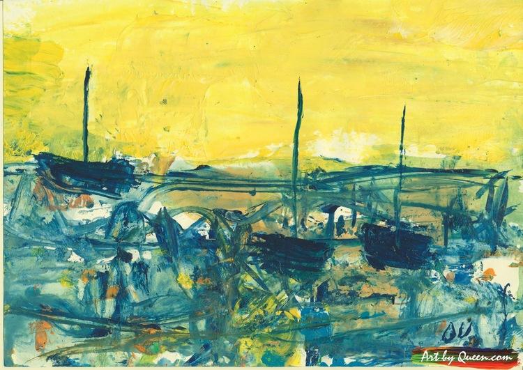 Tre seglande båtar