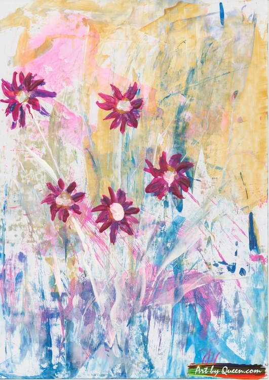 Blommande sommarbukett