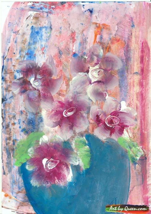 Vackra blommor i vasen