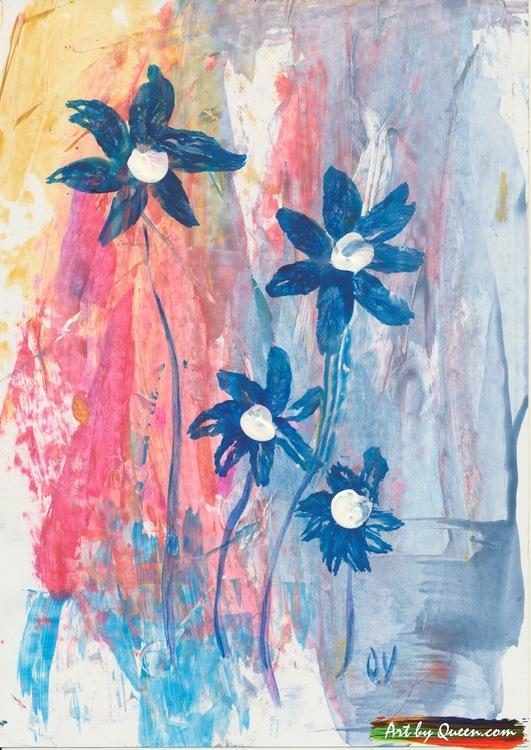Fina blå blommor