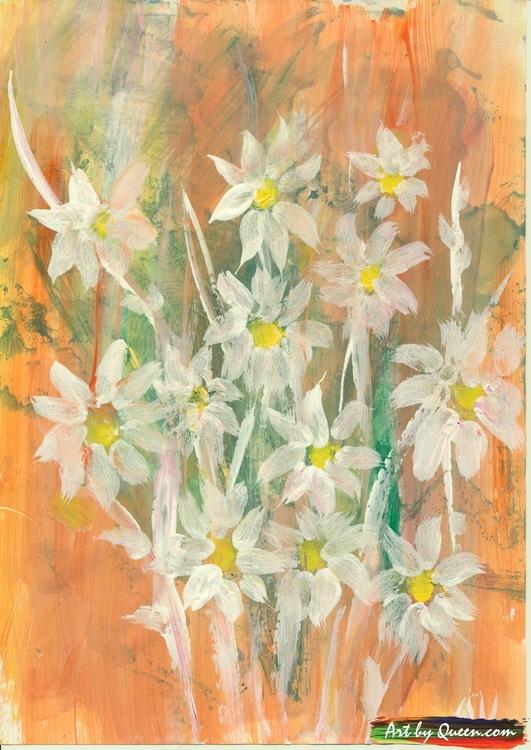 Bukett med doftande blommor
