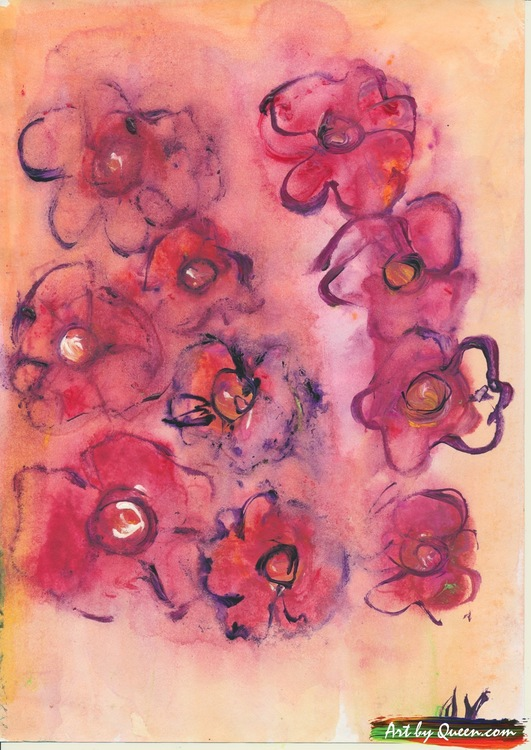 Blommande blommor
